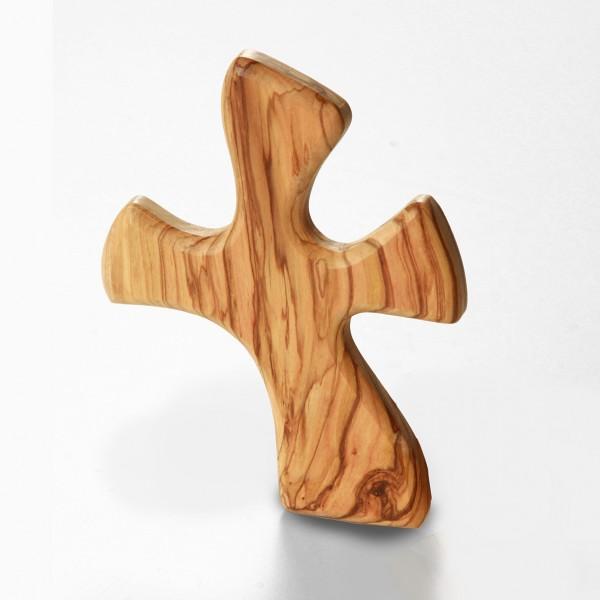 Geschwungenes Kreuz als Handschmeichler 13 cm