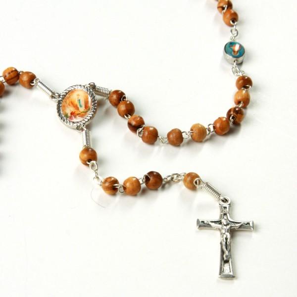 Rosenkranz Mutter Gottes und kniende Nonne 39 cm