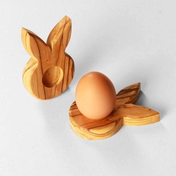 Osterdeko Eierständer Hase Tischdeko aus Olivenholz