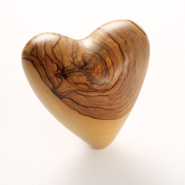 Olivenholz Herz Briefbeschwerer und Handschmeichler